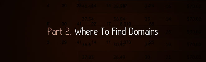 Part 2. Where To Find Domains