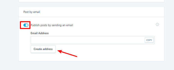 enable wordpress post by email
